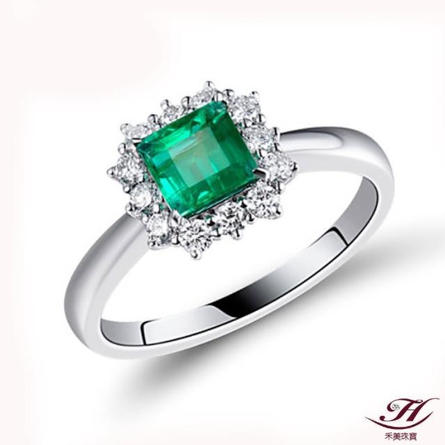 【禾美珠寶】天然哥倫比亞祖母綠戒指YS499(18K金)