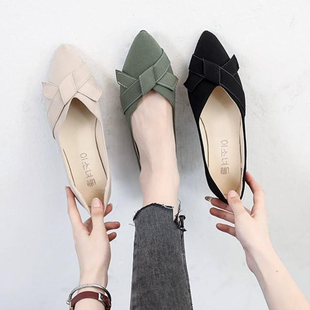 【K.W.】獨賣自在步調尖頭平底鞋-通勤鞋/平底鞋(共3色)