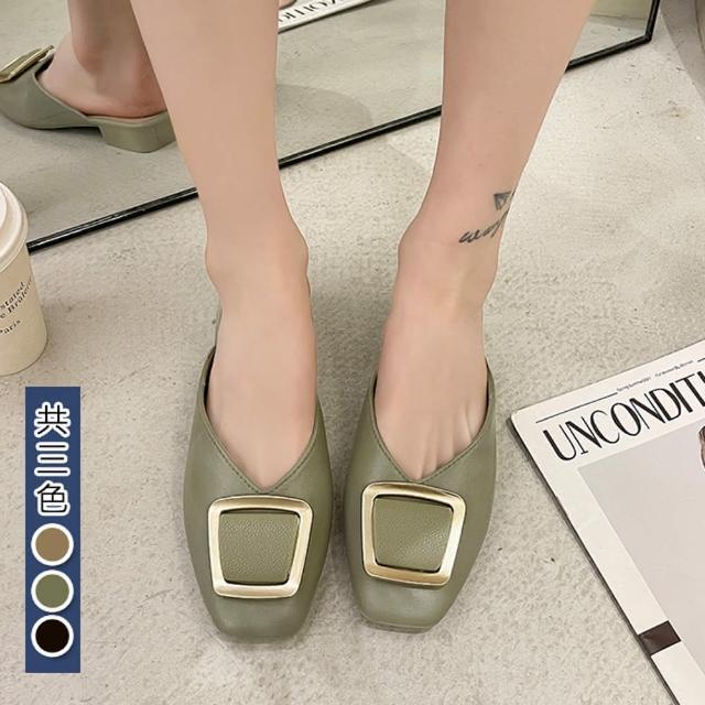 【K.W.】獨賣簡約時尚懶人鞋-涼鞋/涼跟鞋/懶人鞋/穆勒鞋(共3色)