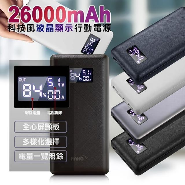 【HANG】26000mAh 支援PD閃充QC3.0 雙向快充 行動電源 P2