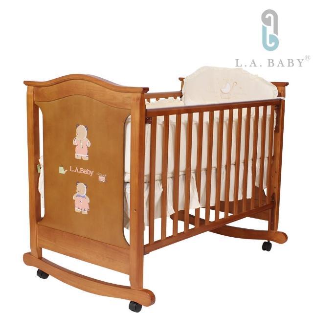 【L.A. Baby】京都熊嬰兒大床(皮肯色)