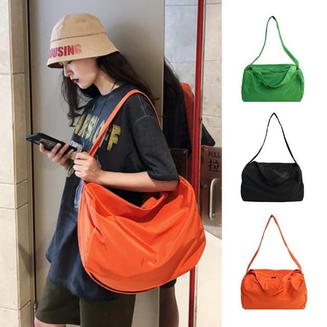 【I FUN】現+預 簡約純色大容量健身旅行袋(大容量/側背包/旅行包)