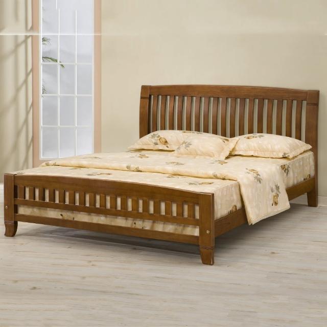 【MUNA 家居】巴比倫黃檀實木5尺雙人床架實木床板(床台 床架 雙人床 實木)