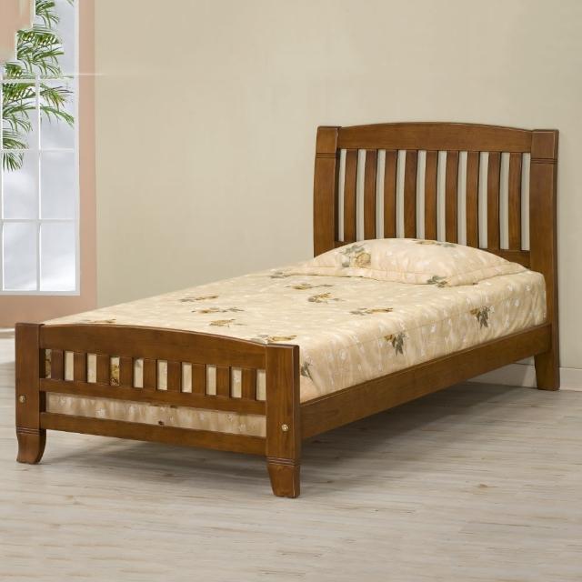 【MUNA 家居】巴比倫黃檀實木3.5尺單人床架實木床板(床台 床架 單人床 實木)