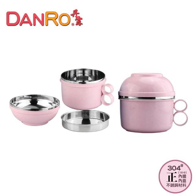 【丹露】雙層隔熱不鏽鋼發財碗2入裝(S304-160)