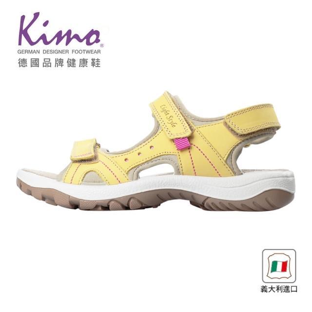 【Kimo】義大利製造舒適牛皮涼鞋 女鞋(鵝黃 7090003043)