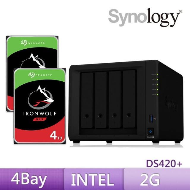【搭希捷 4TB x2】Synology 群暉科技 DS420+ 網路儲存伺服器