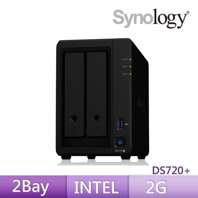 【搭希捷 4TB x2】Synology 群暉科技 DS720+ 網路儲存伺服器