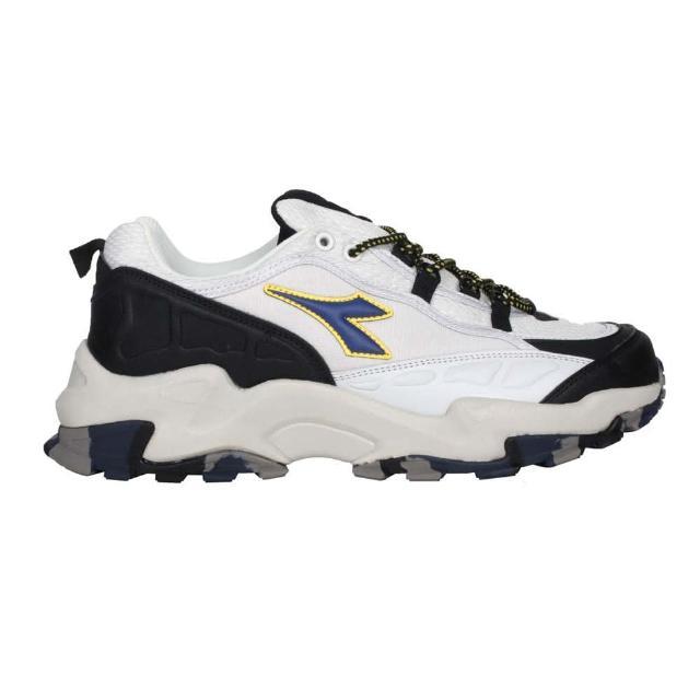 【DIADORA】男戶外野趣越野鞋-超寬楦-防水 越野 慢跑 運動 避震 灰黑藍黃(DA71179)