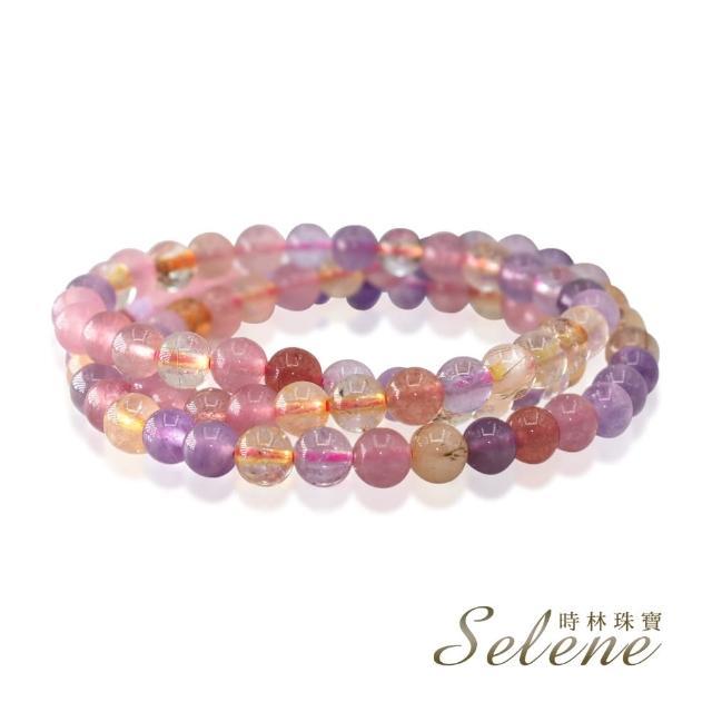 【Selene】混色開運水晶三圈手鍊(6mm)