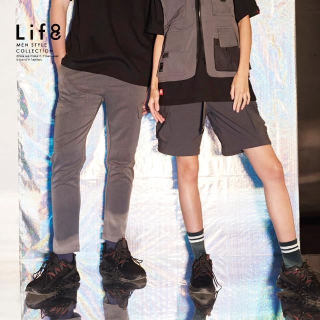 【Life8】Casual 簡約雙口袋 設計長褲(02606)