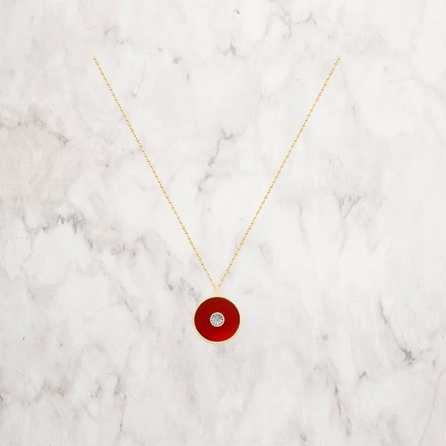 【C&C】明星設計款真鑽二代項鍊(紅瑪瑙)
