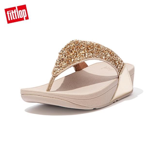 FitFlop【FitFlop】LULU SHIMMERFOIL TOE-THONGS 經典夾腳涼鞋-女(金色)