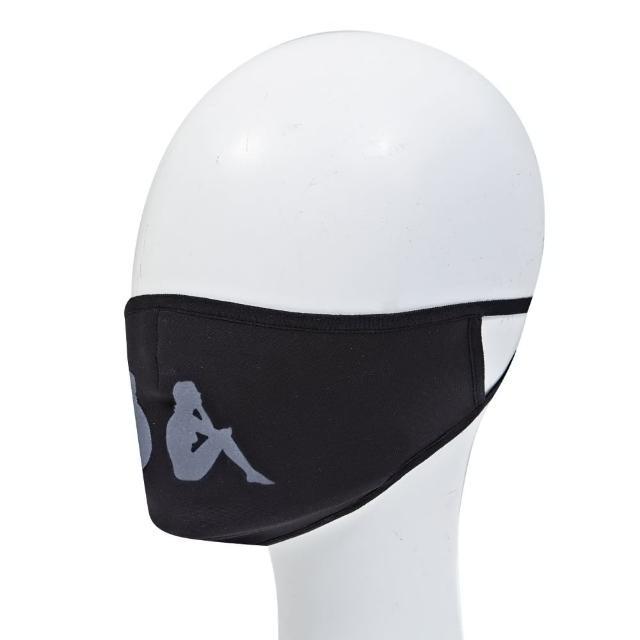 【KAPPA】時尚舒適運動口罩 非醫療用(黑 36147PW005)