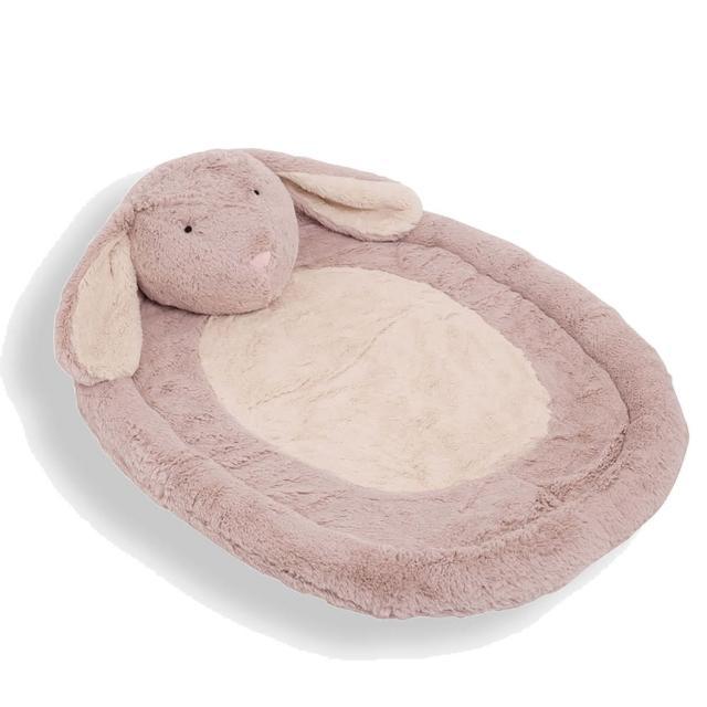 【JoJo Maman BeBe】舒適柔軟長絨毛睡墊/遊戲墊/休息墊_邦妮兔(JJD3606)