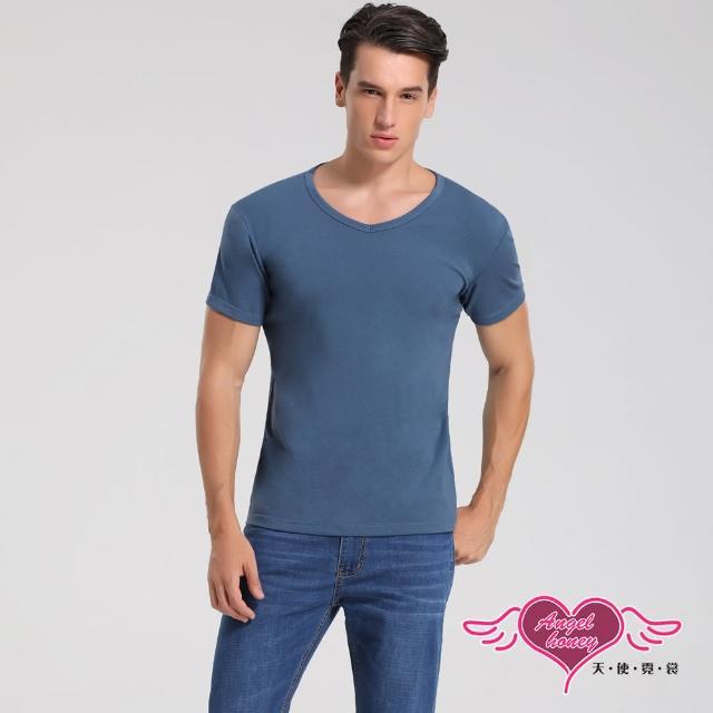 【Angel 天使霓裳】簡約時尚 短袖彈性透氣運動上衣 內搭T恤 健身(藍M-2L)