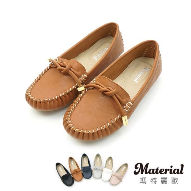 【MATERIAL】豆豆鞋 簡約平結豆豆鞋 MA女鞋 T52805(豆豆鞋)