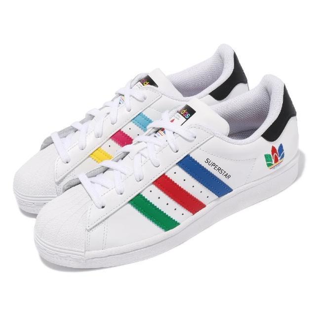 【adidas 愛迪達】休閒鞋 Superstar 貝殼頭 運動 女鞋 海外限定 愛迪達 舒適 簡約 穿搭 白 彩(FW5236)