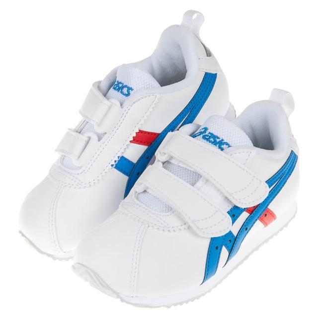 【布布童鞋】asics亞瑟士經典款CORSAIR白色兒童機能運動鞋(J0D152M)