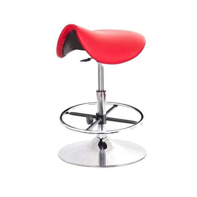 【GXG 吉加吉】馬鞍型 工作椅 金屬盤+踏圈(TW-T05 K)