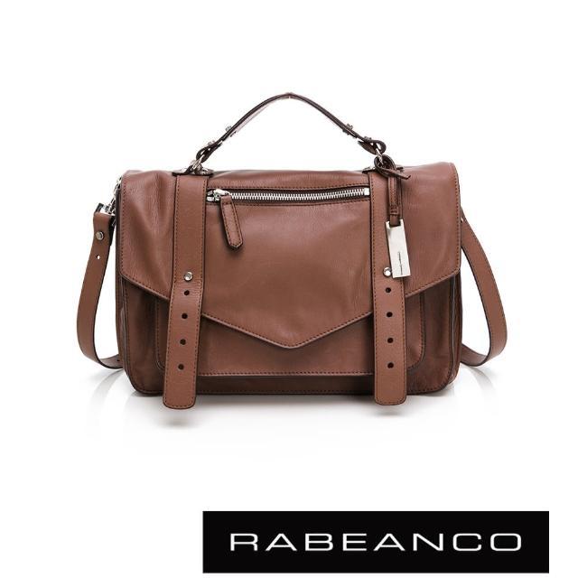 【RABEANCO】Modern現代美學系列雙飾帶包-小(深卡其)