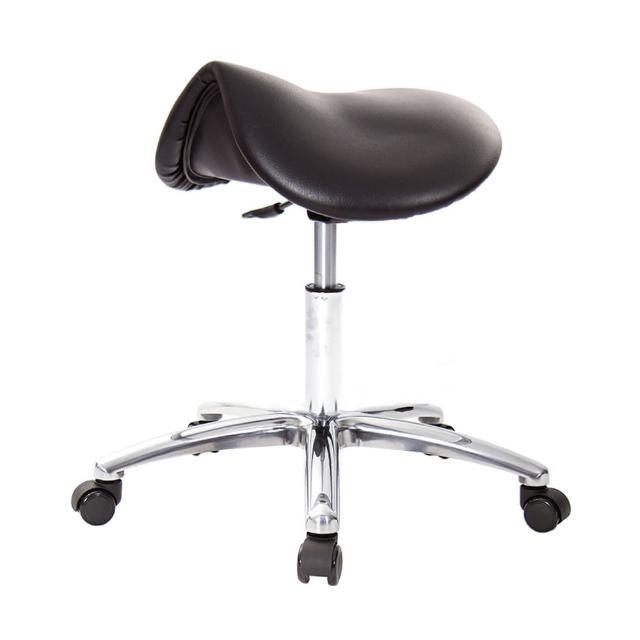【GXG 吉加吉】馬鞍型 工作椅 寬鋁腳+防刮輪(TW-T05 LU1X)