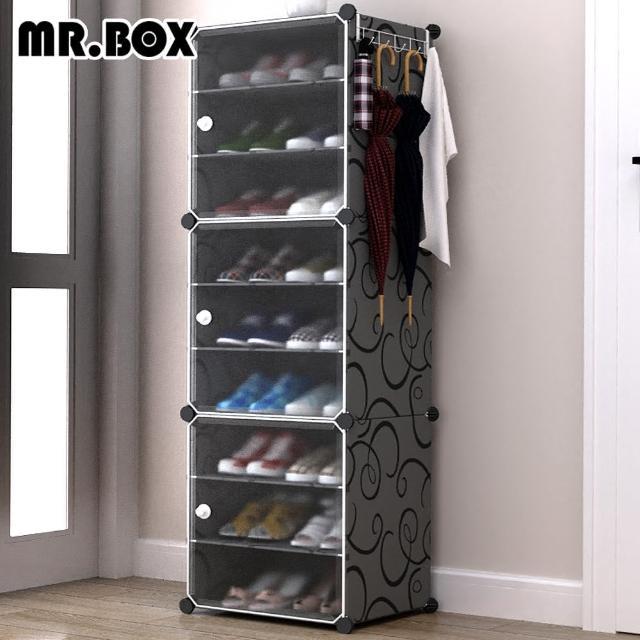 【Mr.Box】9格3門1掛 防塵組合鞋櫃 深 32CM