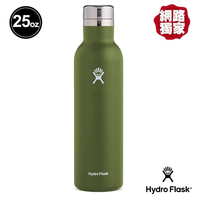 【Hydro Flask】25oz/749ml 保冷保溫 杯瓶/酒瓶(橄欖綠)