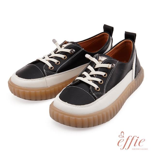 【A.S.O 阿瘦集團】effie網獨款-夏日悠遊套入式鬆緊帶造型復古懶人休閒鞋(黑)