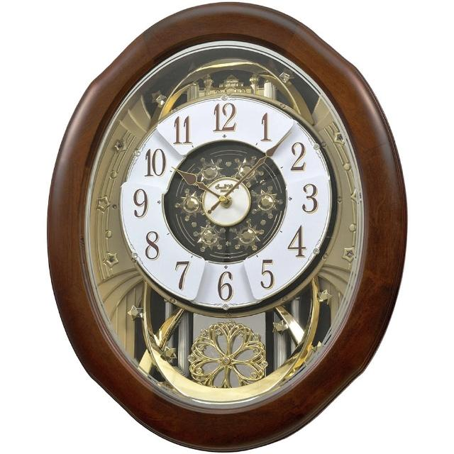 【RHYTHM 麗聲】夢幻童話城堡音樂舞台報時掛鐘(感光靜音)