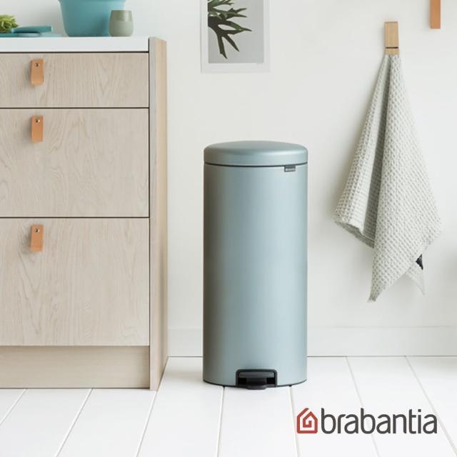 【Brabantia】NEWICON環保垃圾桶-金屬藍-30L(新品上市)