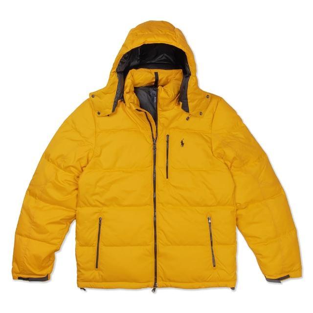 【RALPH LAUREN】Polo Ralph Lauren 年度熱銷防風防潑水可拆式連帽羽絨外套-黃色