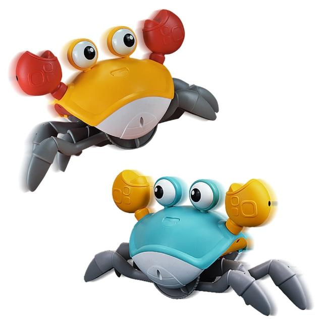 【JoyNa】聲光螃蟹自動感應電動玩具(互動玩具.免電池)