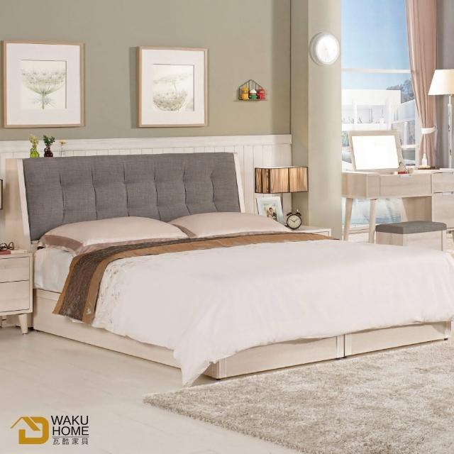 【德泰傢俱】Ailsa簡約清新6尺被櫥式雙人床A002-581-1