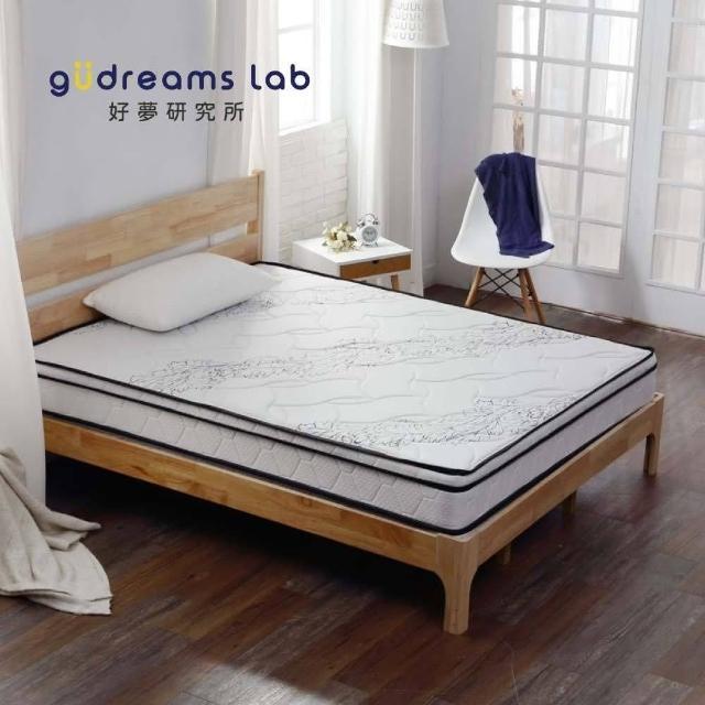 【Tronlife 好床生活】G08-4線加厚防瞞乳膠獨立筒|雙人加大6尺(針織舒柔布)