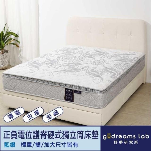 【Tronlife 好床生活】Awake甦醒藍鑽|正負電位|護脊硬式獨立筒床墊|雙人特大7尺(導電紗表布)