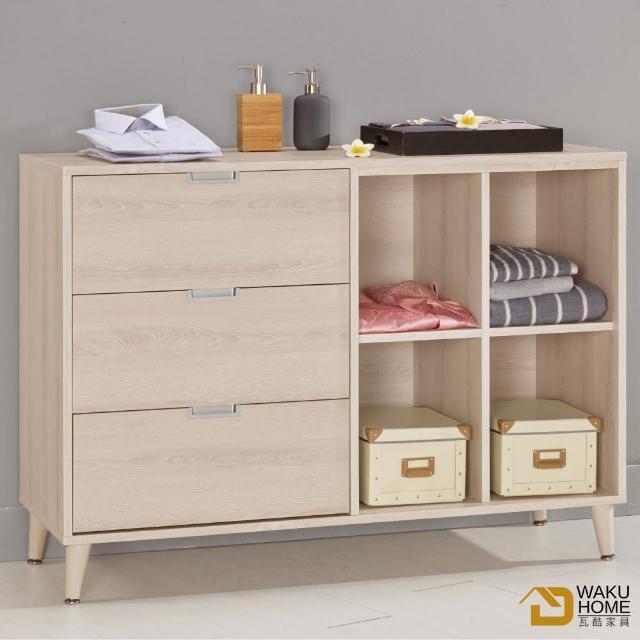 【德泰傢俱】Ailsa簡約清新4尺多功能置物櫃A002-581-11