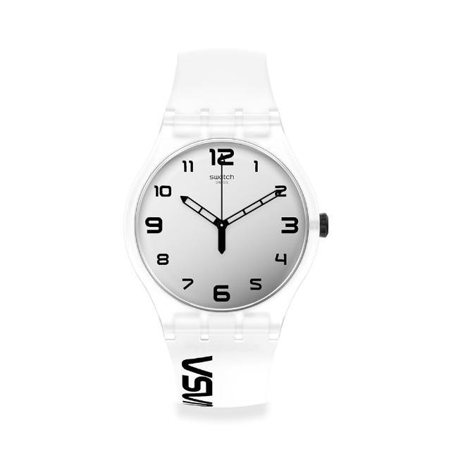 【SWATCH】NASA限定聯名款 New Gent 原創系列手錶SPACE RACE 黑白視界(41mm)