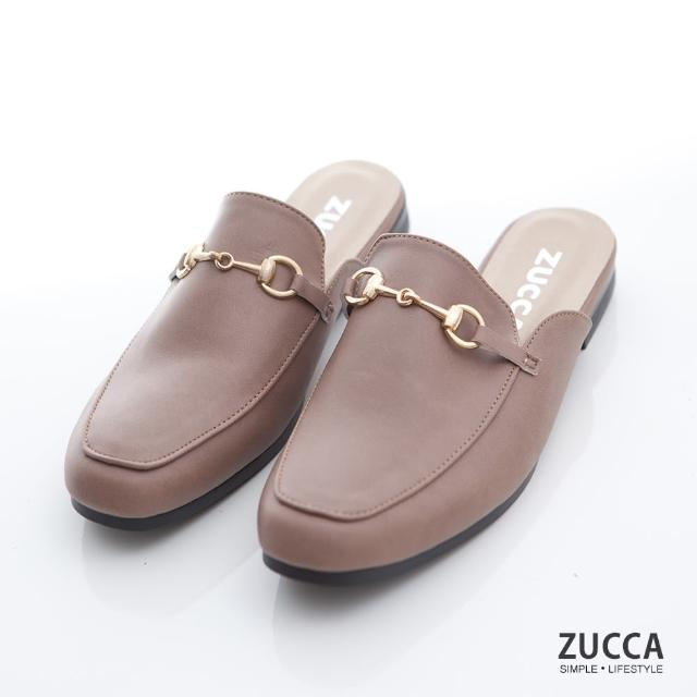 【ZUCCA&bellwink】雙金屬穿環平底拖鞋z7006ce-棕色