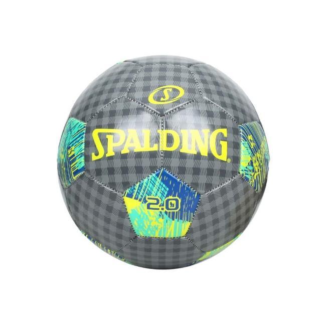 【SPALDING】2.0#5號足球-運動 5號球 斯伯丁 深灰藍綠(SPA64953)