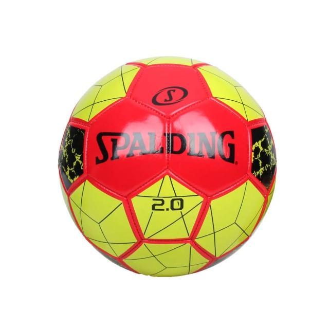 【SPALDING】2.0#5號足球-運動 5號球 斯伯丁 綠紅(SPA64950)