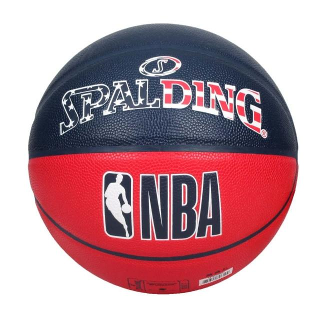 【SPALDING】NBA #7號合成皮籃球-室內 室外 戶外 運動 7號球 斯伯丁 丈青紅白(SPA76487)