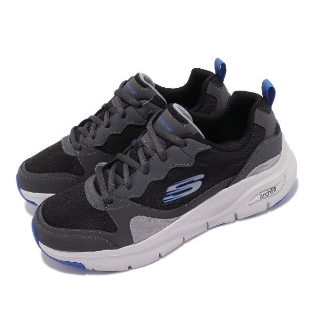 【SKECHERS】慢跑鞋 Arch Fit-Konvoy 運動 男鞋 專利鞋墊 避震 緩衝 支撐 穩定 健走 黑 藍(232204BKGY)