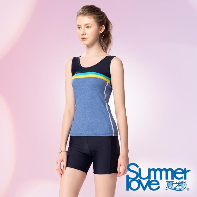 【Summer Love 夏之戀】泳衣 大尺碼長版二件式(S21713)
