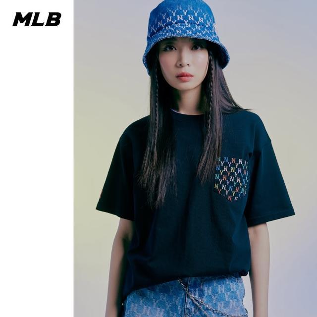 【MLB】短袖T恤 老花口袋系列 Monogram 紐約洋基隊(31TSM3131-50L)