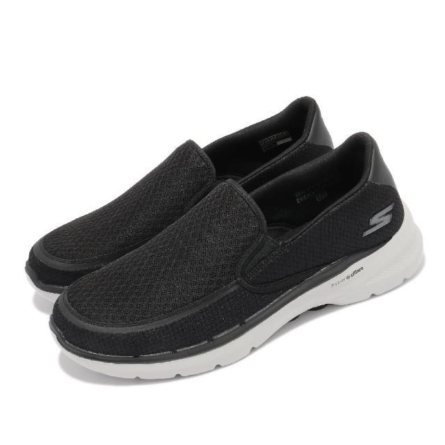 【SKECHERS】休閒鞋 Go Walk 6-Orva 男鞋 機能 健走鞋 穩定 支撐 避震 緩衝 黑 灰(216200BKGY)