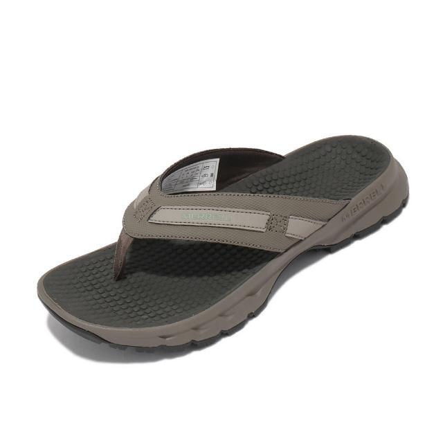 【MERRELL】拖鞋 Cedrus Flip 3 人字拖 女鞋 防水布內裡 緩衝 耐磨 抓地 灰 卡其(ML036394)