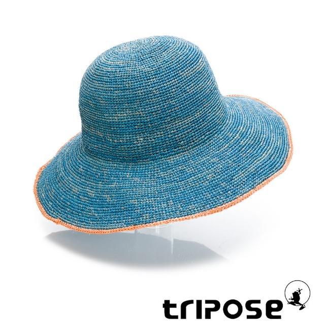 【tripose】MULA 手工Raffia滾邊拉菲草帽 帽簷10cm(藍綠)