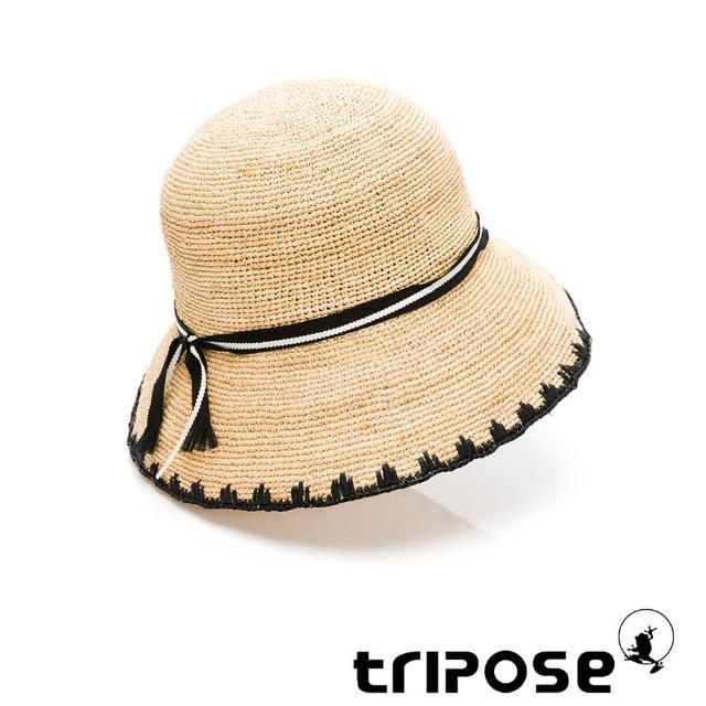 【tripose】ALANI 手工Raffia拉菲草帽 帽簷8cm(自然色x黑)