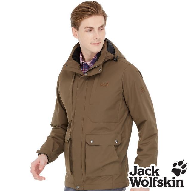 【Jack wolfskin 飛狼】男 防風防潑水保暖外套 蓄熱鋪棉(橄欖綠)